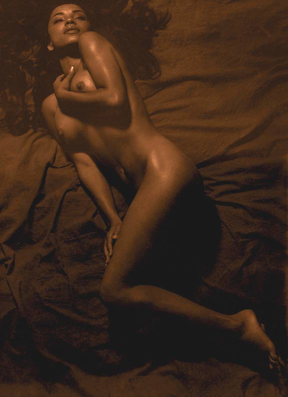 Uncropped, sepia version of Nude Photograph